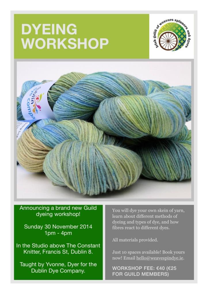 dyeing workshop poster image